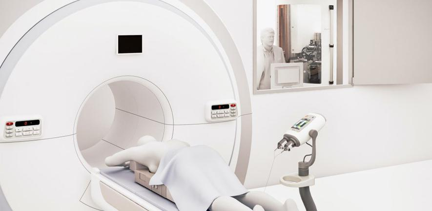 An artist's impression of the scan room.