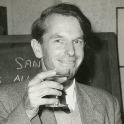 Fred Sanger at his Nobel Prize celebrations in 1958.