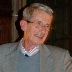 Richard Jackson at his retirement dinner at Pembroke College.