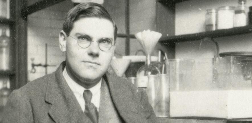 Malcolm Dixon in the laboratory, c1925