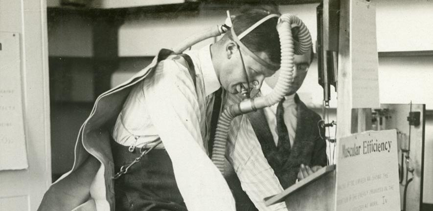 A demonstration of muscle efficiency, 1924