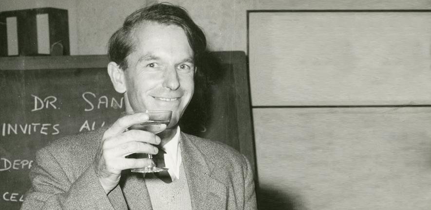 Fred Sanger at his Nobel Prize celebrations in 1958