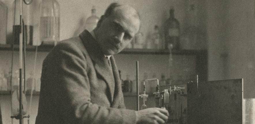 J.B.S. Haldane in the laboratory, c1920-1930