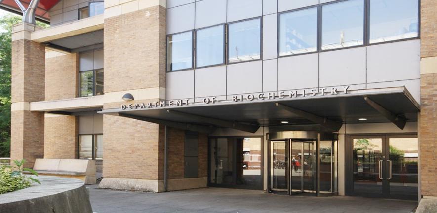 The Sanger Building entrance.