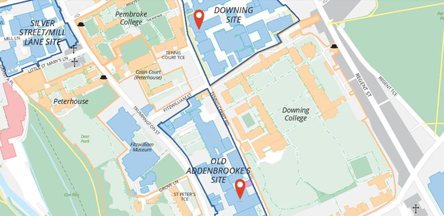 Department of Biochemistry building locations