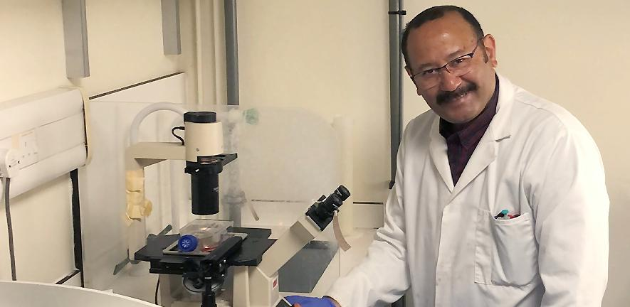 Dr Samir Hamaia in the laboratory.