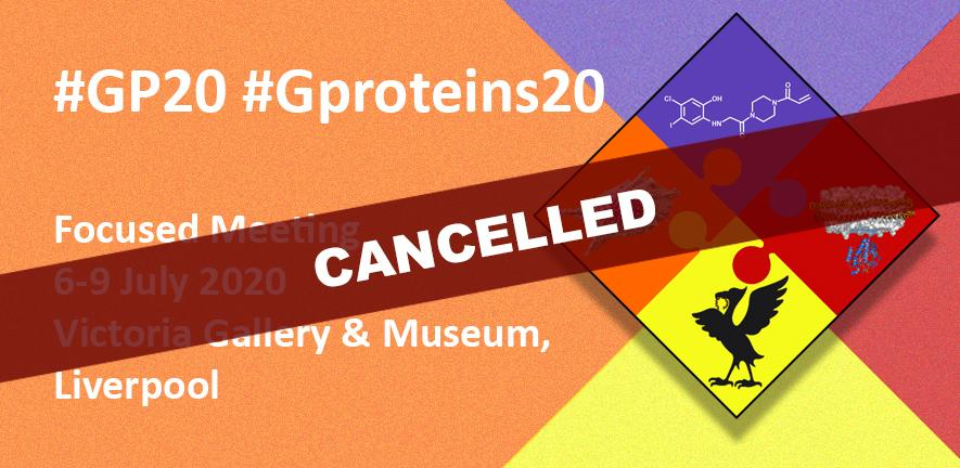 #Gproteins20 conference logo.